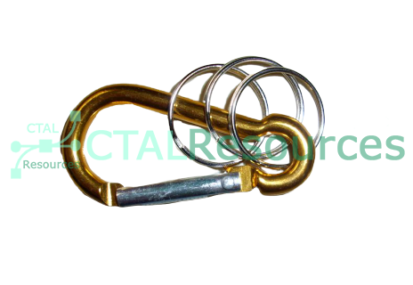 Carabiner with Spring Clip and Ring